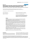 """Báo cáo y học: """" Extravascular lung water assessed by transpulmonary single thermodilution and postmortem gravimetry in sheep"""""""