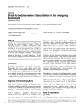 """Báo cáo y học: """"Bench-to-bedside review: Resuscitation in the emergency department"""""""