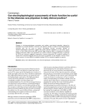 """Báo cáo y học: """"Can electrophysiological assessments of brain function be useful to the intensive care physician in daily clinical practice"""""""