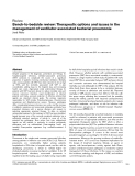 """Báo cáo y học: """"Bench-to-bedside review: Therapeutic options and issues in the management of ventilator-associated bacterial pneumonia"""""""