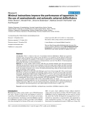 "Báo cáo y học: ""Minimal instructions improve the performance of laypersons in the use of semiautomatic and automatic external defibrillator"""