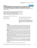 "Báo cáo y học: "" Initial distribution volume of glucose can be approximated using a conventional glucose analyzer in the intensive care unit"""