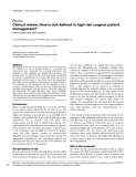 """Báo cáo khoa học: """"Clinical review: How is risk defined in high-risk surgical patient management"""""""