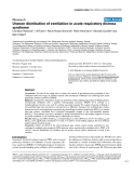 """Báo cáo khoa học: """" Uneven distribution of ventilation in acute respiratory distress syndrome"""""""