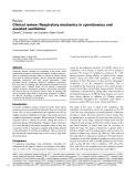 """Báo cáo khoa học: """"Clinical review: Respiratory mechanics in spontaneous and assisted ventilation"""""""