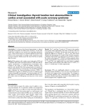"Báo cáo khoa học: ""Clinical investigation: thyroid function test abnormalities in cardiac arrest associated with acute coronary syndrome"""