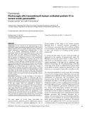 "Báo cáo khoa học: ""Drotrecogin alfa (recombinant human activated protein C) in severe acute pancreatitis"""