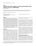 """Báo cáo khoa học: """"Clinical review: The meaning of acid–base abnormalities in the intensive care unit – epidemiolog"""""""