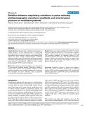 "Báo cáo khoa học: ""Relation between respiratory variations in pulse oximetry plethysmographic waveform amplitude and arterial pulse pressure in ventilated patients"""