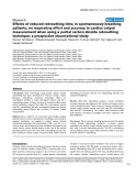"""Báo cáo khoa học: """"Effects of reduced rebreathing time, in spontaneously breathing patients, on respiratory effort and accuracy in cardiac output measurement when using a partial carbon dioxide rebreathing technique: a prospective observational study"""""""