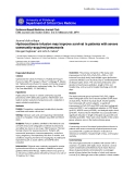 """Báo cáo khoa học: """"Hydrocortisone infusion may improve survival in patients with severe community-acquired pneumonia"""""""
