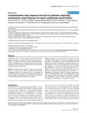"""Báo cáo khoa học: """"Levosimendan may improve survival in patients requiring mechanical assist devices for post-cardiotomy heart failure"""""""