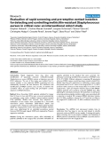 """Báo cáo khoa học: """" Evaluation of rapid screening and pre-emptive contact isolation for detecting and controlling methicillin-resistant Staphylococcus aureus in critical care: an interventional cohort study"""""""