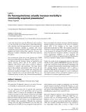 "Báo cáo khoa học: ""Do fluoroquinolones actually increase mortality in community-acquired pneumonia"""