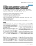 """Báo cáo khoa học: """" Continuous infusion of ceftazidime in critically ill patients undergoing continuous venovenous haemodiafiltration: pharmacokinetic evaluation and dose recommendation"""""""