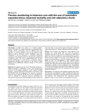 """Báo cáo khoa học: """" A Process monitoring in intensive care with the use of cumulative expected minus observed mortality and risk-adjusted p charts"""""""