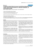 """Báo cáo khoa học: """"Peripheral arterial blood pressure monitoring adequately tracks central arterial blood pressure in critically ill patients: an observational study"""""""