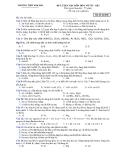ĐỀ LUYỆN THI MÔN HÓA VÔ CƠ - Mã đề thi 045