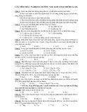 CÂU HỎI TRẮC NGHIỆM CHƯƠNG VIII: KIM LOẠI NHÓM IA, IIA