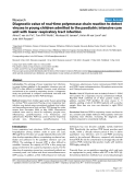"""Báo cáo y học: """"Diagnostic value of real-time polymerase chain reaction to detect viruses in young children admitted to the paediatric intensive care unit with lower respiratory tract infection"""""""