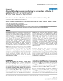 """Báo cáo y học: """"Arterial blood pressure monitoring in overweight critically ill patients: invasive or noninvasive"""""""