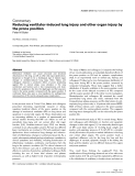 """Báo cáo y học: """" Reducing ventilator-induced lung injury and other organ injury by the prone position"""""""