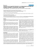 """Báo cáo y học: """"Intensive care acquired infection is an independent risk factor for hospital mortality: a prospective cohort study"""""""