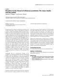 "Bóa cáo y học: ""Reaction to the threat of influenza pandemic: the mass media and the public"""