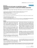"Báo cáo y học: "" Morbidity and cost burden of methicillin-resistant Staphylococcus aureus in early onset ventilator-associated pneumonia"""