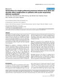 """Báo cáo y học: """"Generation of a single pulmonary pressure-volume curve does not durably affect oxygenation in patients with acute respiratory distress syndrome"""""""