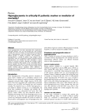 Hyperglycaemia in critically ill patients: marker or mediator of mortality?