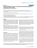 "Báo cáo y học: ""Effect of bladder volume on measured intravesical pressure:"""