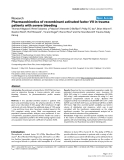 """Báo cáo y học: """" Pharmacokinetics of recombinant activated factor VII in trauma patients with severe bleeding"""""""