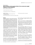 """Báo cáo y học: """"Measuring the anticoagulant effect of low molecular weight heparins in the critically ill"""""""