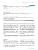 """Báo cáo y học: """"Open lung biopsy in early-stage acute respiratory distress syndrome"""""""