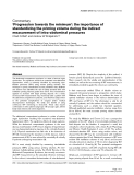 """Báo cáo y học: """" 'Progression towards the minimum': the importance of standardizing the priming volume during the indirect measurement of intra-abdominal pressures"""""""
