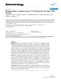 "Báo cáo y học: ""  Phosphorylation regulates human T-cell leukemia virus type 1 Rex function"""