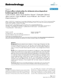 Retrovirology Research  BioMed Central  Open Access  A dose-effect relationship for