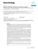 Retrovirology Research  BioMed Central  Open Access  Accuracy estimation of foamy virus genome