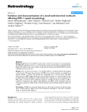 Retrovirology Research  BioMed Central  Open Access  Isolation and characterization of a small