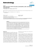 """Báo cáo y học: """" HIV interactions with monocytes and dendritic cells: viral latency and reservoirs"""""""