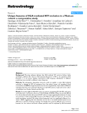 """Báo cáo y học: """" Unique features of HLA-mediated HIV evolution in a Mexican cohort: a comparative study"""""""