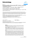 """Báo cáo y học: """" Perinatal acquisition of drug-resistant HIV-1 infection: mechanisms and long-term outcome"""""""