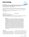 """Báo cáo y học: """" On the steps of cell-to-cell HIV transmission between CD4 T cells"""""""
