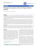 "Báo cáo y học: ""Mutagenesis analysis of the zinc-finger antiviral protein"""
