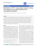 "Báo cáo y học: ""  Modulation of HIV-1 macrophage-tropism among R5 envelopes occurs before detection of neutralizing antibodies"""