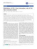 """Báo cáo y học: """" Modulation of HIV-1-host interaction: role of the Vpu accessory protein"""""""