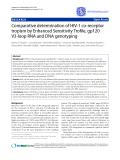 """Báo cáo y học: """"Comparative determination of HIV-1 co-receptor tropism by Enhanced Sensitivity Trofile, gp120 V3-loop RNA and DNA genotyping"""""""