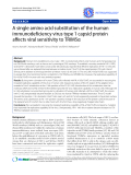 """Báo cáo y học: """"A single amino acid substitution of the human immunodeficiency virus type 1 capsid protein affects viral sensitivity to TRIM5α"""""""