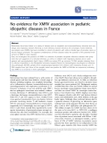 """Báo cáo y học: """" No evidence for XMRV association in pediatric idiopathic diseases in France"""""""